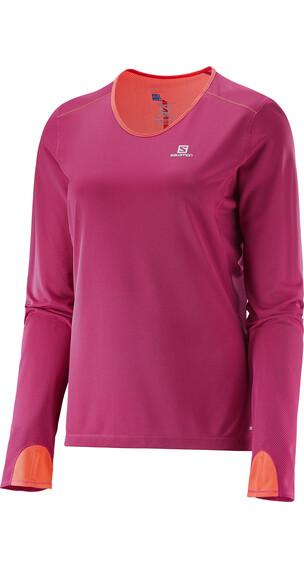 Salomon W's Trail Runner LS Tee Gaura Pink/Coral Punch